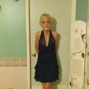 Black party dress size S